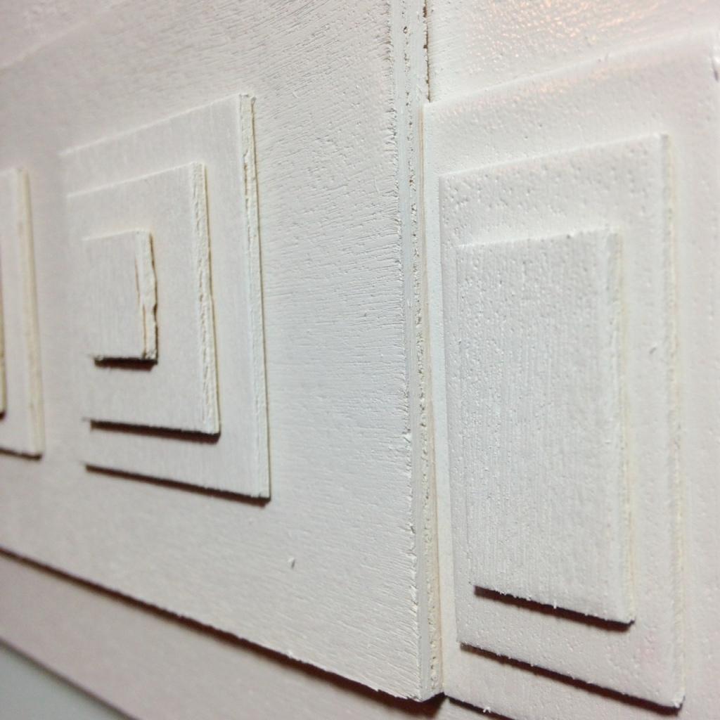 Close-Up 3 Rechthoeken En Vierkanten- Tribute to Ad Dekkers Linda Cleary 2014 Mixed-Media on Wood Panel