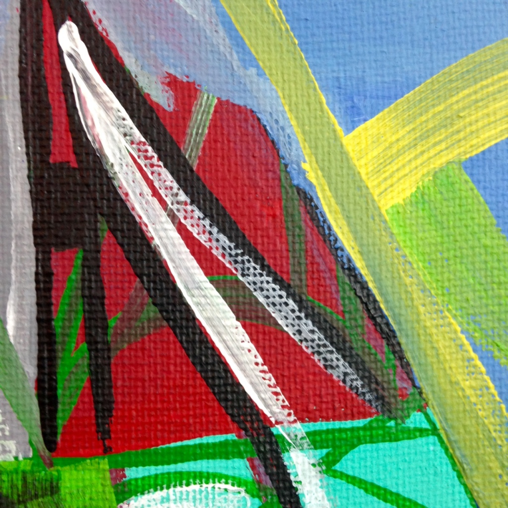 Close-Up 3 Meet Me There- Tribute to Amy Sillman Linda Cleary 2014 Acrylic on Canvas