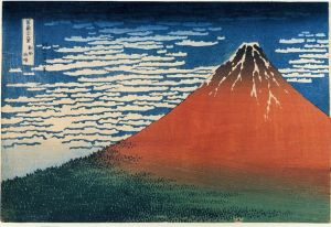Fuji, Mountains in clear Weather (Red Fuji) - Katsushika Hokusai