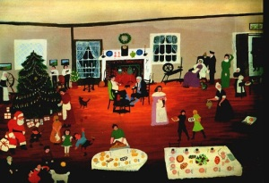 Grandma Moses - Christmas at Home