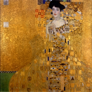 Adele Bloch-Bauer I, which sold for a record $135 million in 2006, Neue Galerie, New York- Gustav Klimt