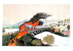 The Burning of Troy- Grandma Moses