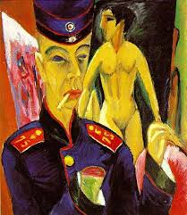 Self-portrait as a Soldier- Ernst Ludwig Kirchner