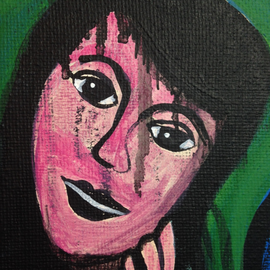 Close-Up 1 Block Them Out- Tribute to Grace Hartigan Linda Cleary 2014 Acrylic on Canvas