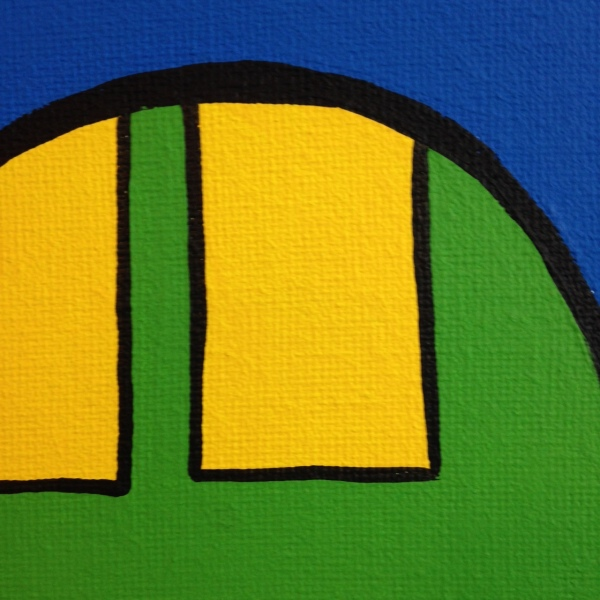 Close-Up 3 Oh My- Tribute to KAWS Linda Cleary 2014 Acrylic on Canvas