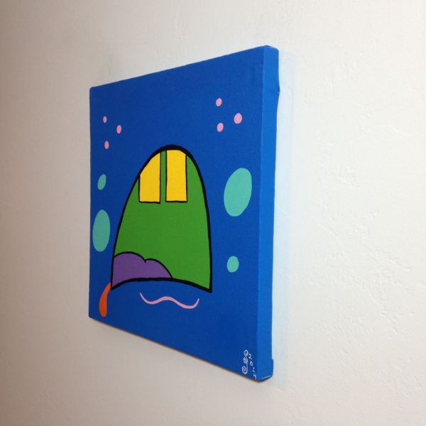 Side-View Oh My- Tribute to KAWS Linda Cleary 2014 Acrylic on Canvas