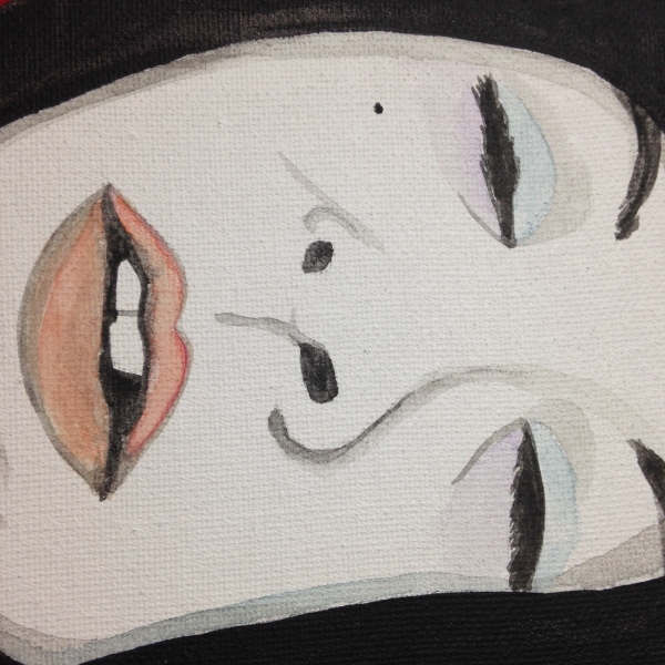 Close-Up 1 The Nap- Tribute to Gustav Klimt Linda Cleary 2014 Acrylic & Metallic Paint of Canvas