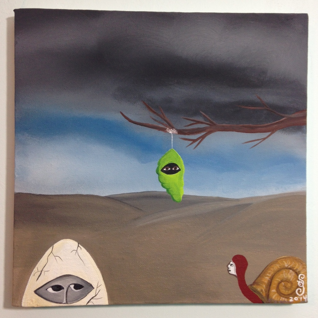 Bienvenidos a mi Reencarnación- Tribute to Bridget Bate Tichenor Linda Cleary 2014 Acrylic on Canvas