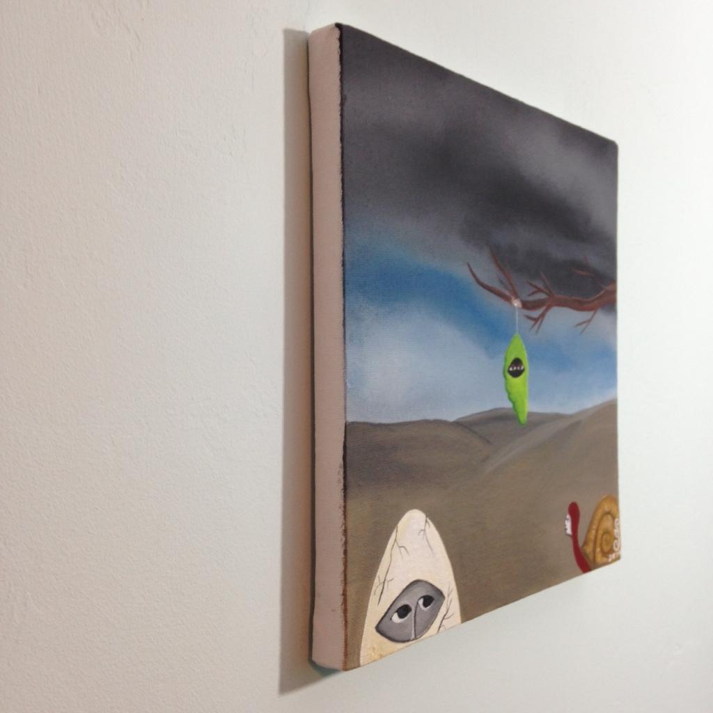 Side-View Bienvenidos a mi Reencarnación- Tribute to Bridget Bate Tichenor Linda Cleary 2014 Acrylic on Canvas