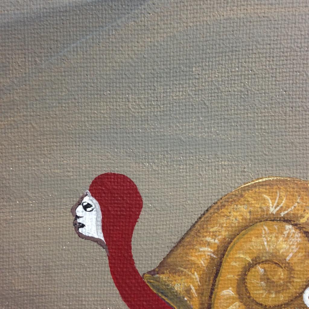 Close-Up 3 Bienvenidos a mi Reencarnación- Tribute to Bridget Bate Tichenor Linda Cleary 2014 Acrylic on Canvas