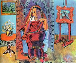 Interior with Indian Woman - Raoul Dufy