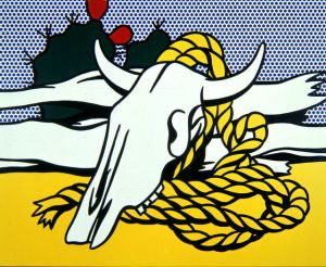 Still Life with Cow Skull- Roy Lichtenstein