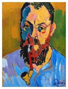 Portrait of Matisse- Andre Derain