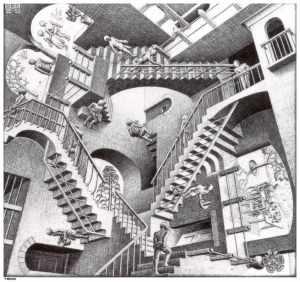 Relativity- M.C. Escher