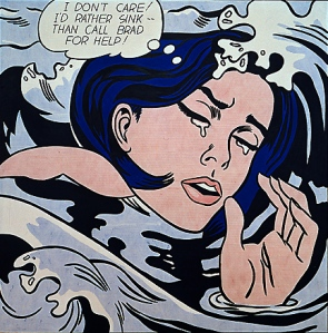 Drowning Girl- Roy Lichtenstein