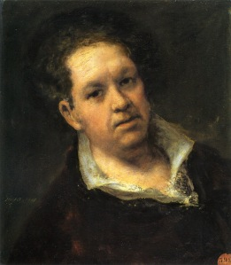 Self-Portrait at 69 years- Francisco De Goya