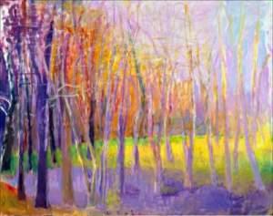 Wolf Kahn - Woodland Swamp