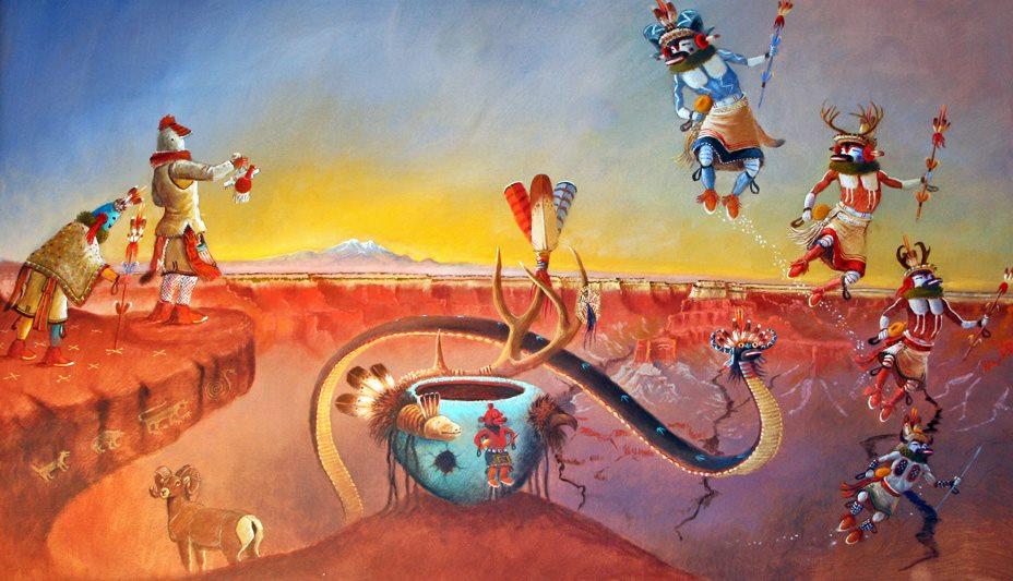 Day 348 Robert Yellowhair Vibrant Navajo Art Day Of