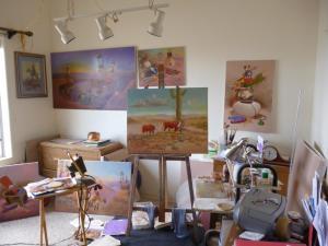 The art studio at casa de Yellowhair