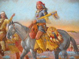 Detail of Robert Yellowhair painting