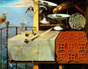Still Life Moving Fast- Salvador Dali