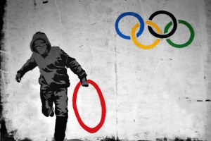 Banksy- Olympic Rings
