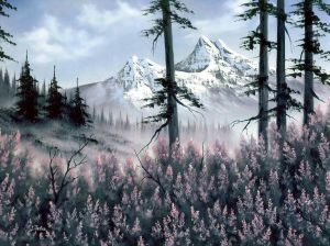 Mountain Blossoms- Bob Ross