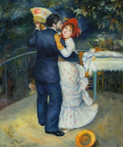 Dance in the Country (Aline Charigot and Paul Lhote), 1883- Pierre-Auguste Renoir