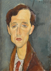 Portrait of Frans Hellens- Amedeo Modigliani