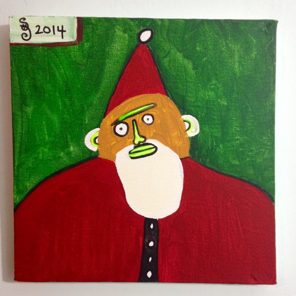 Santa- Tribute to Paul Duhem Linda Cleary 2014 Acrylic on Canvas