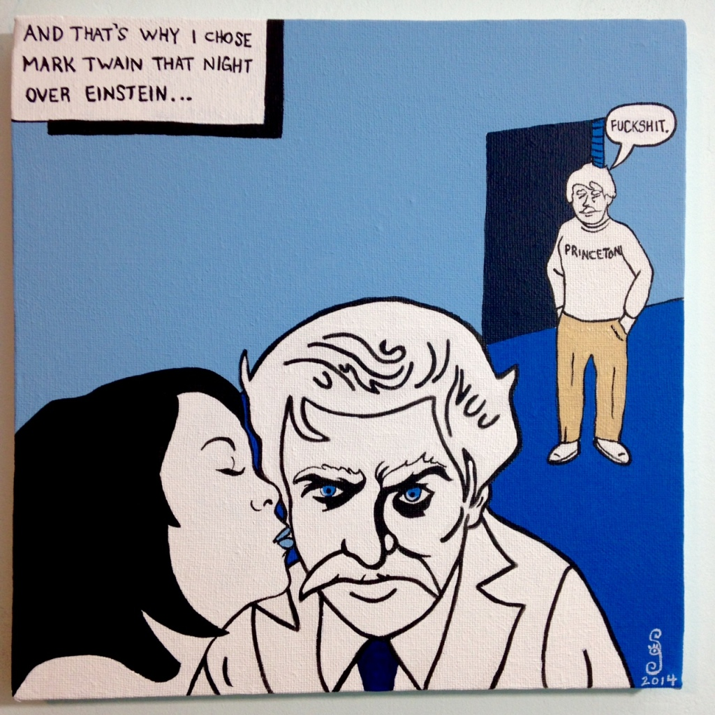 Choosing Twain- Tribute to Michael Kupperman Linda Cleary 2014 Acrylic on Canvas