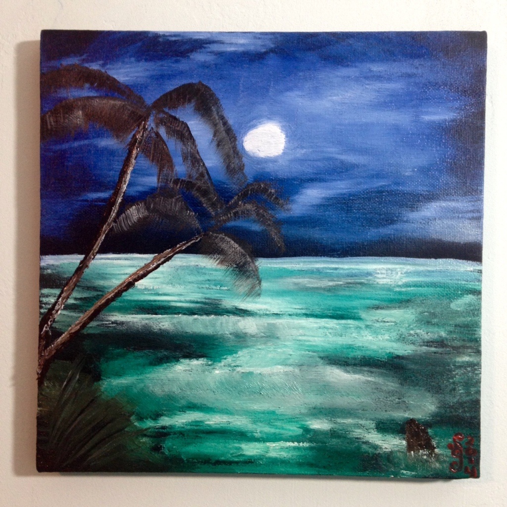 Wish I Was There- Tribute to Bob Ross Linda Cleary 2014 Oil, Acrylic on Canvas