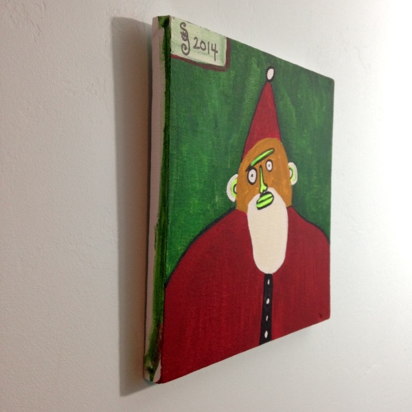 Side-View Santa- Tribute to Paul Duhem Linda Cleary 2014 Acrylic on Canvas