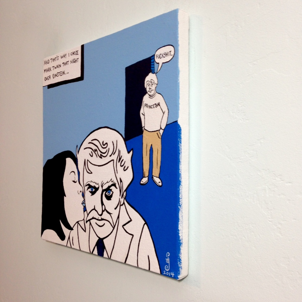 Side-View Choosing Twain- Tribute to Michael Kupperman Linda Cleary 2014 Acrylic on Canvas
