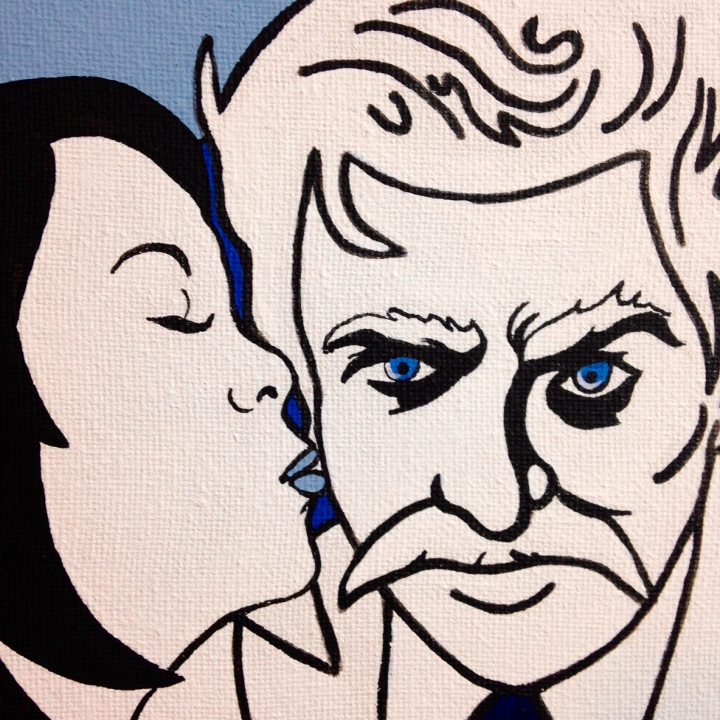 Close-Up 1 Choosing Twain- Tribute to Michael Kupperman Linda Cleary 2014 Acrylic on Canvas