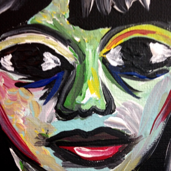 Close-Up 1 Always Lurking...-Tribute to Len Jessome Linda Cleary 2014 Acrylic on Canvas
