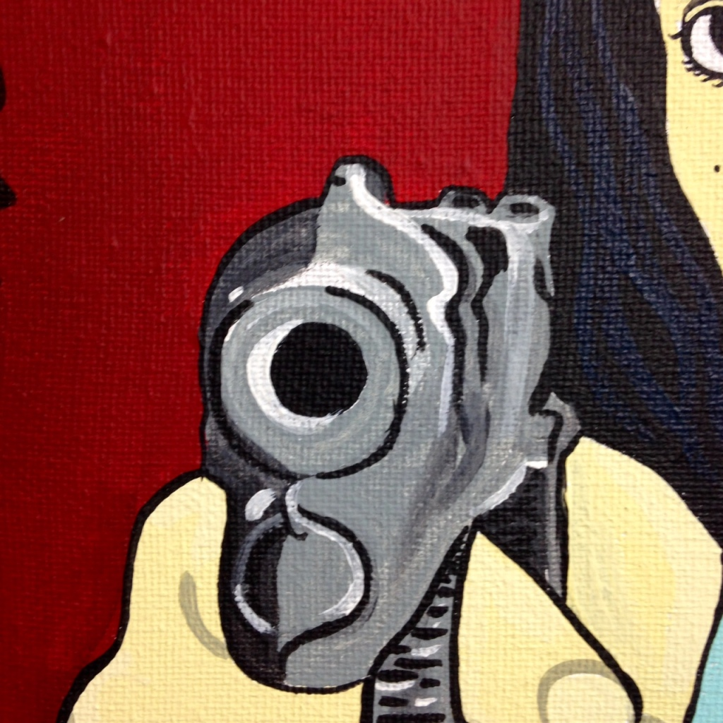 Close-Up 1 L' Art De Linda Cleary- Tribute to R. Black Linda Cleary 2014 Acrylic on Canvas