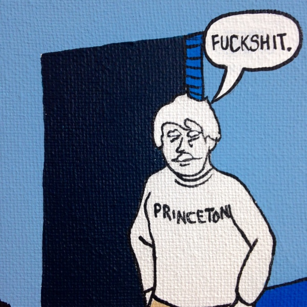 Close-Up 2 Choosing Twain- Tribute to Michael Kupperman Linda Cleary 2014 Acrylic on Canvas