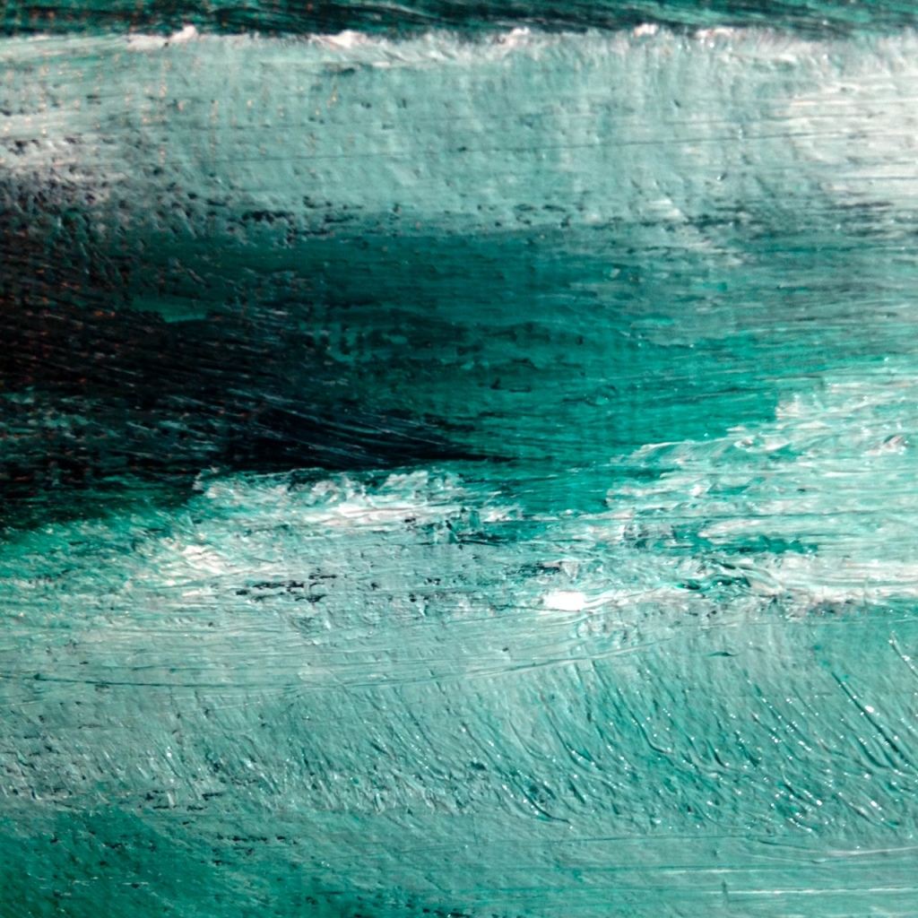 Close-Up 2 Wish I Was There- Tribute to Bob Ross Linda Cleary 2014 Oil, Acrylic on Canvas