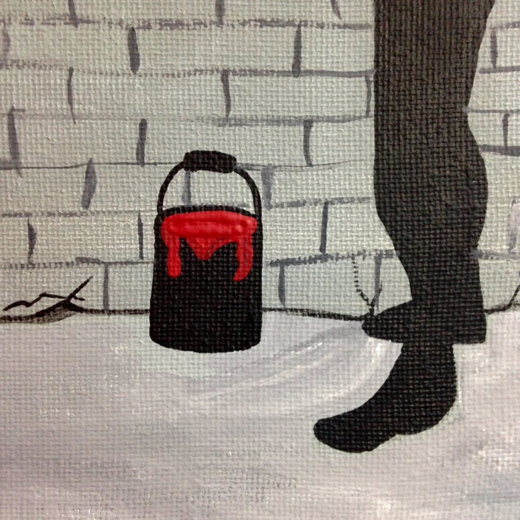 Close-Up 2 Make Art- Tribute to Banksy Linda Cleary 2014 Acrylic on Canvas