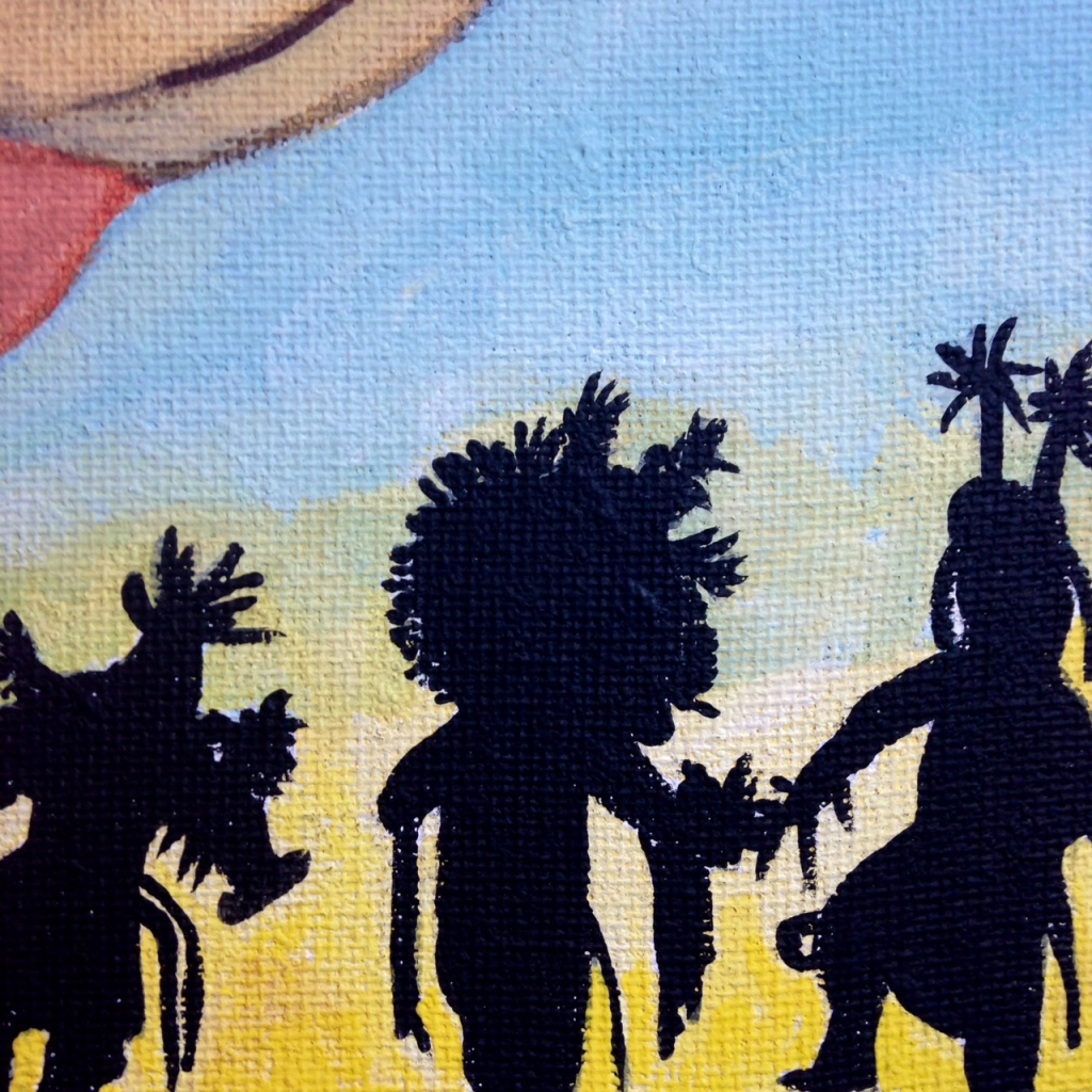 Close-Up 2 Navajo Dancers- Tribute to Robert Yellowhair Linda Cleary 2014 Acrylic on Canvas