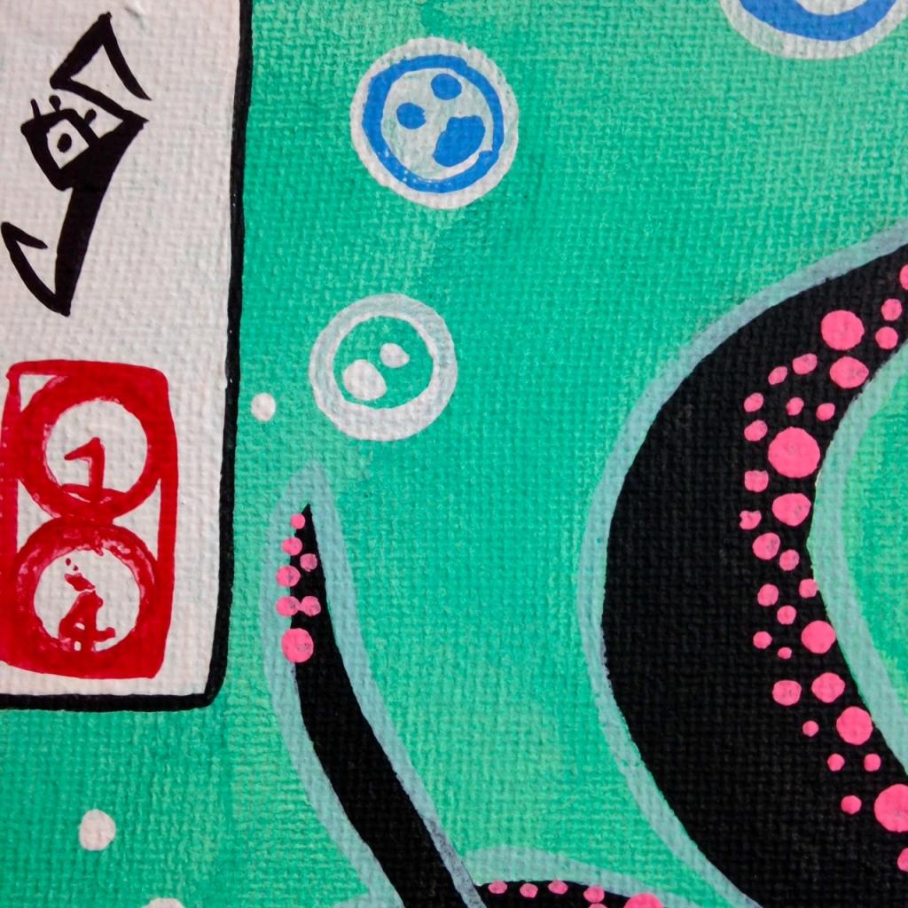 Close-Up 1 セルフポートレート- Tribute to Yuko Shimizu Linda Cleary 2014 Acrylic on Canvas