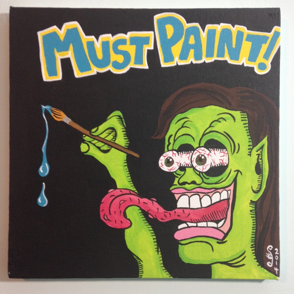 MUST PAINT!- Tribute to Ed Roth Linda Cleary 2014 Acrylic on Canvas