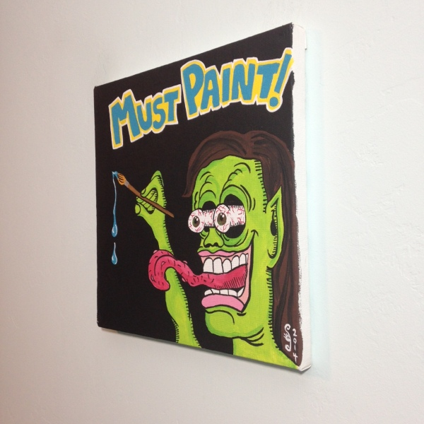 Side-View MUST PAINT!- Tribute to Ed Roth Linda Cleary 2014 Acrylic on Canvas