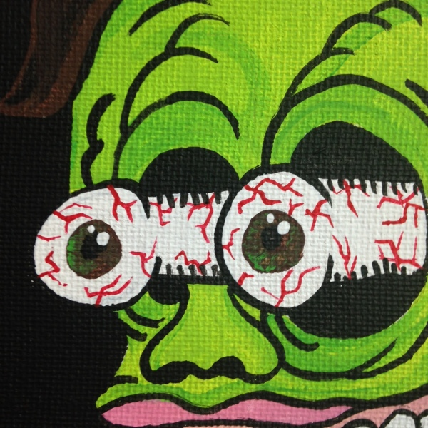 Close-Up 1 MUST PAINT!- Tribute to Ed Roth Linda Cleary 2014 Acrylic on Canvas