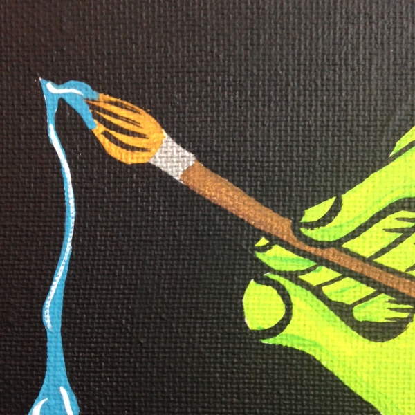 Close-Up 2 MUST PAINT!- Tribute to Ed Roth Linda Cleary 2014 Acrylic on Canvas