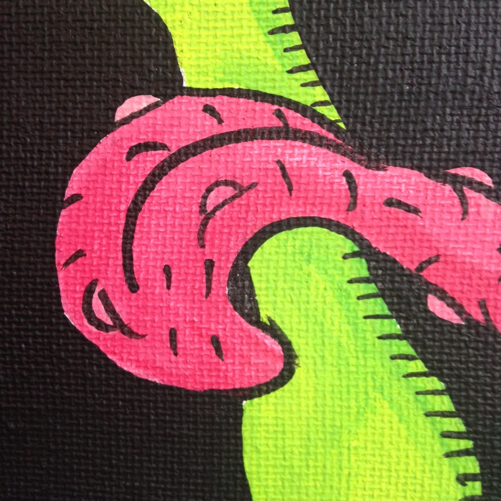 Close-Up 3 MUST PAINT!- Tribute to Ed Roth Linda Cleary 2014 Acrylic on Canvas