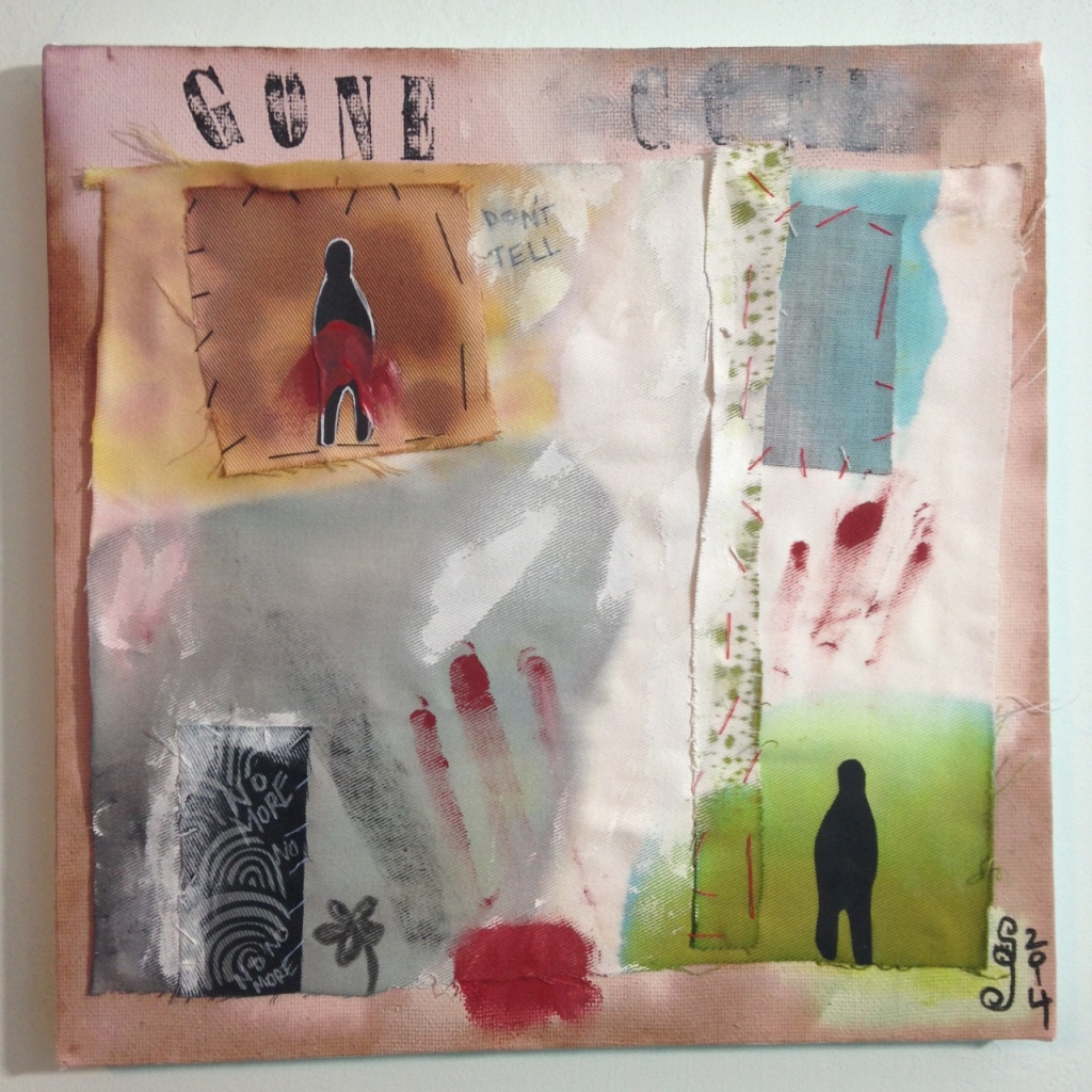 Gone- Tribute to Hannelore Baron Linda Cleary 2014 Mixed-Media on Canvas