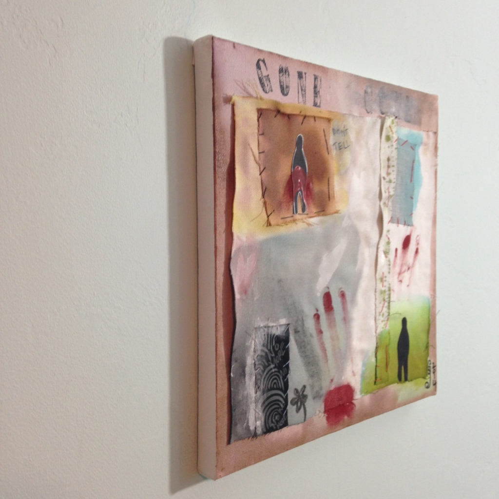 Side-View Gone- Tribute to Hannelore Baron Linda Cleary 2014 Mixed-Media on Canvas