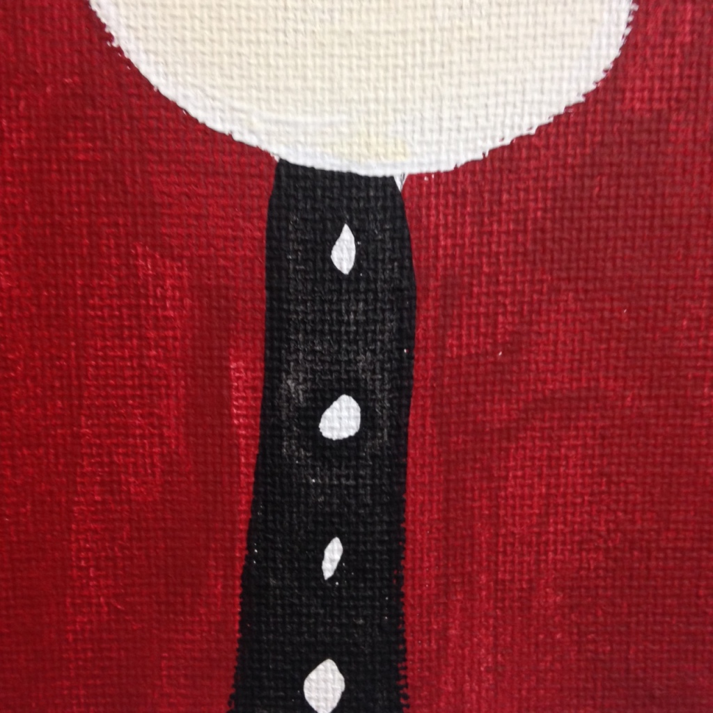 Close-Up 3 Santa- Tribute to Paul Duhem Linda Cleary 2014 Acrylic on Canvas